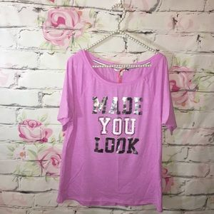 NWT Victoria's Secret Made You Look Tee Shirt